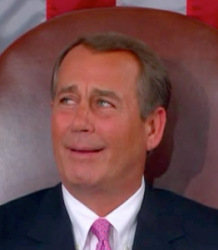 Boehner's ill fated smile attempt.