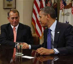 House Speaker John Boehner and President Obama discuss the dire consequences Americans can expect should they fail to reach a deal on ALF.