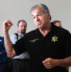 Sheriff Sid Gautreaux demonstrates what gay men should do instead of having consensual sex.