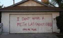 meth lab garage door