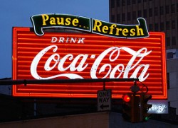 Coca-cola-sign-night-baton-rouge-downtown