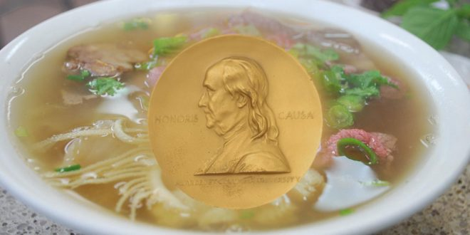 "Food Critic Wins Pulitzer for Word Play With ""Pho"""