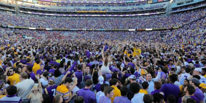 LSU to Issue Mandatory Shock Collars to Deter Football Fans From Storming Field